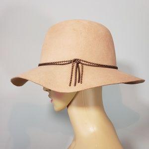 NWOT David & Young Fedora Wide Brim Wool Hat